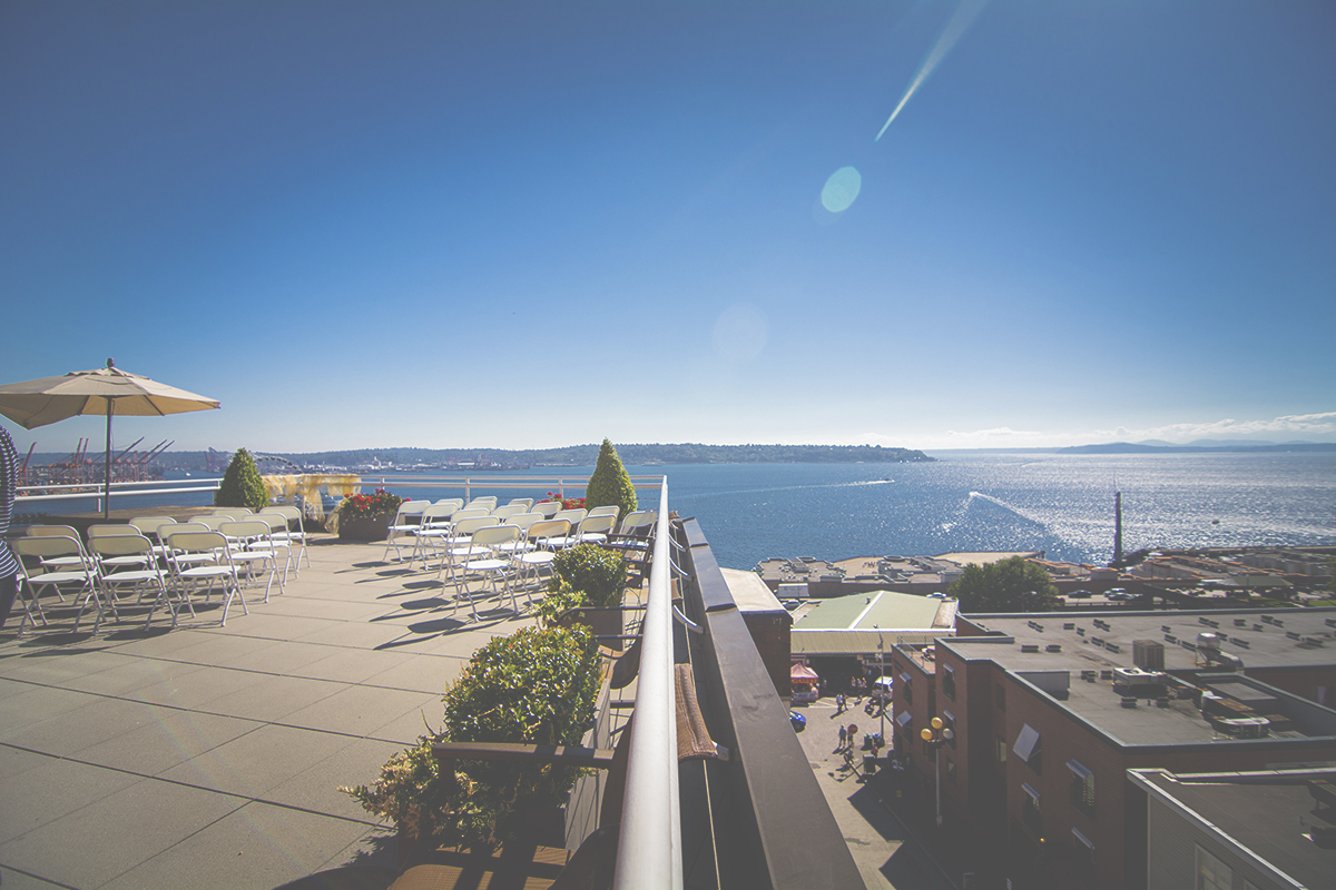 2 view from above the pike place market in Seattle