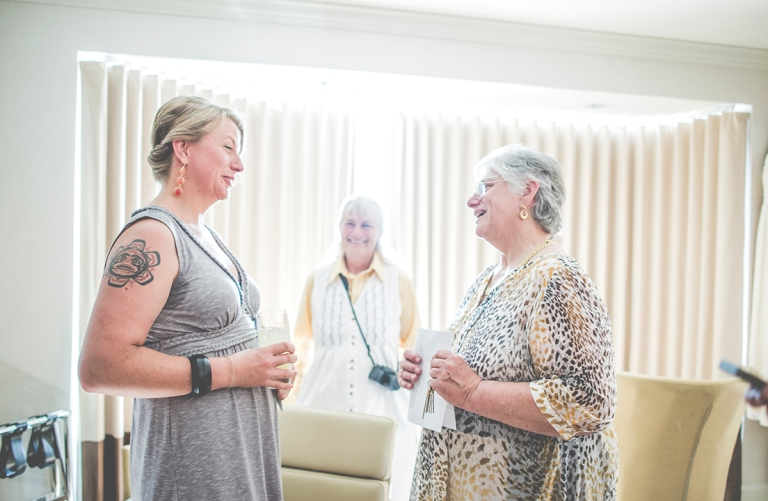 Bride and mother of the groom