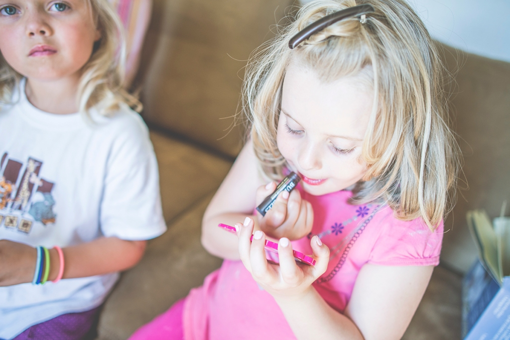 Lipstick is not the easiest chore for younger girls, they know it but they will keep trying until they get it