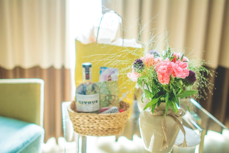 the bride had gifts awaiting for the flower girls