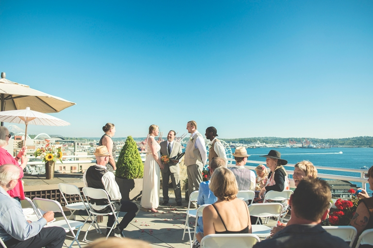 wedding by the water in Seattle 2