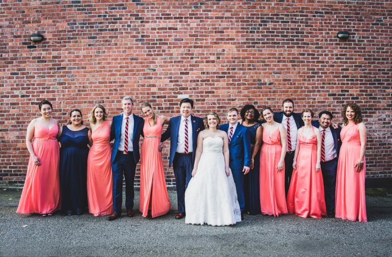 DSC_2159Everett_Wedding_Ballroom_Jane_Speleers_photography_Rachel_and_Edmund_Bridesmaids_peach_dresses_groomsmen_2017