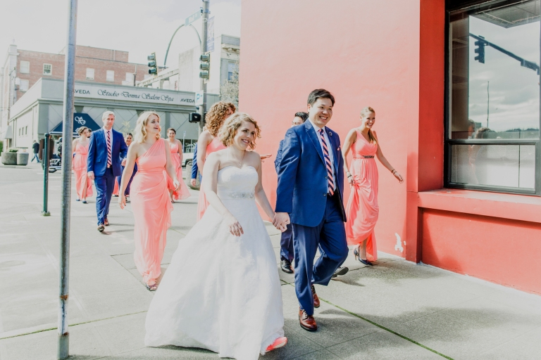 DSC_2166Everett_Wedding_Ballroom_Jane_Speleers_photography_Rachel_and_Edmund_Bridesmaids_peach_dresses_groomsmen_2017