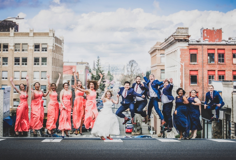 DSC_2265Everett_Wedding_Ballroom_Jane_Speleers_photography_Rachel_and_Edmund_Bridesmaids_peach_dresses_groomsmen_2017