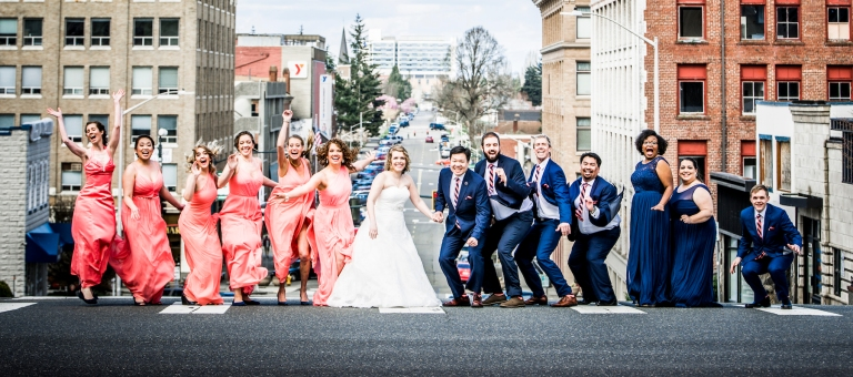 DSC_2267Everett_Wedding_Ballroom_Jane_Speleers_photography_Rachel_and_Edmund_Bridesmaids_peach_dresses_groomsmen_2017