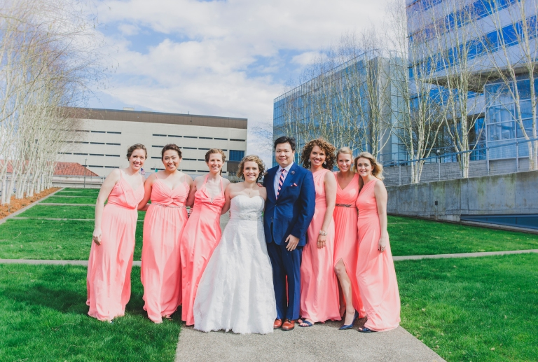 DSC_2289Everett_Wedding_Ballroom_Jane_Speleers_photography_Rachel_and_Edmund_Bridesmaids_peach_dresses_groomsmen_2017